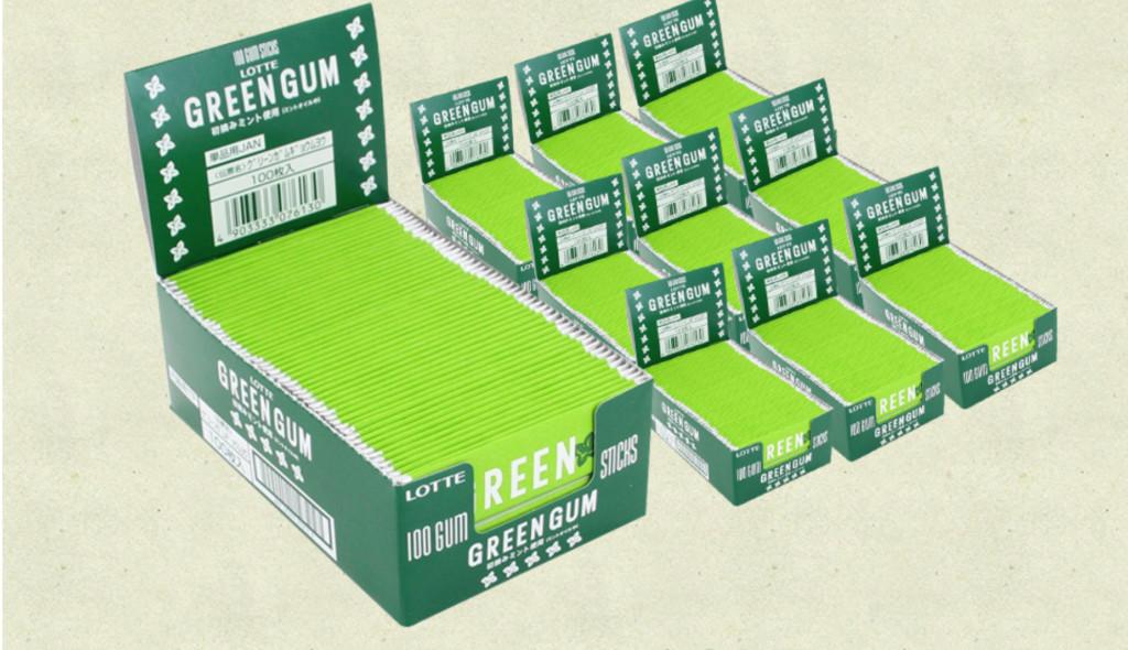 ③「(定期便)グリーンガム業務用(100枚入り×10箱セット)」
