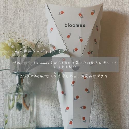 ブルーミー(bloomee)から3回目に届いたお花をレビュー!口コミも紹介