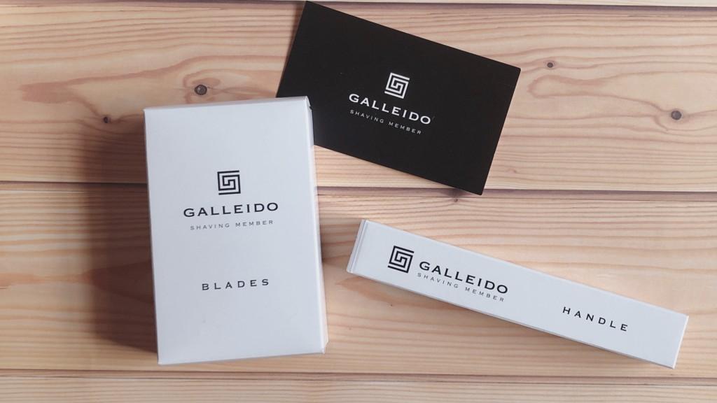 カミソリのサブスク「Galleido Shaving Member(ガレイドシェービングメンバー)」の中身