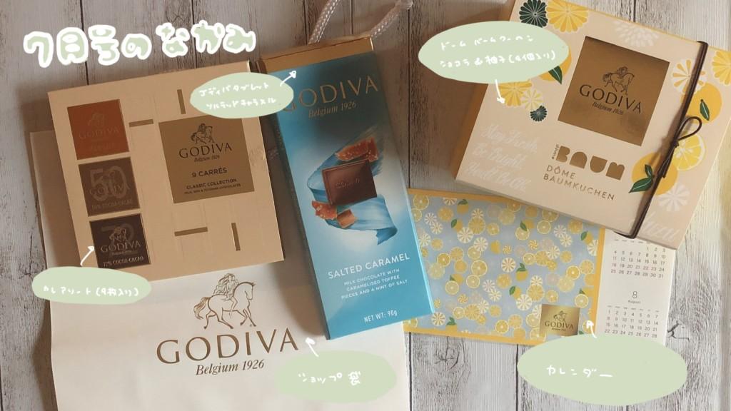 ゴディバ( GODIVA)のサブスク7月号に入っていたチョコレートの気になるお味は?